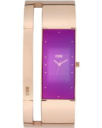 Storm - Alvara Rose Gold Purple Watch - Lyst