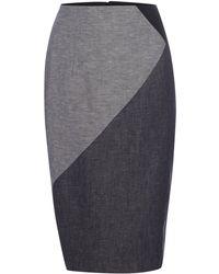 Ellen Tracy - High Waist Pencil Skirt - Lyst