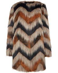 Biba - Carved Faux Fur Coat - Lyst