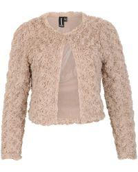Izabel London - Textured Shrug Jacket - Lyst