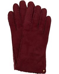 Ted Baker - Cotette Suede Shearling Gloves - Lyst