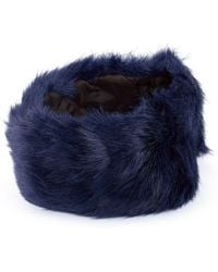 James Lakeland - Faux Fur Headband With Quilted Lining - Lyst
