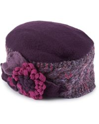 James Lakeland - Lambswool Handknit Flower Beret - Lyst