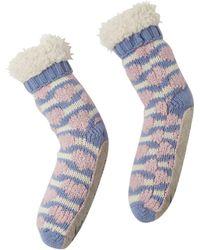 White Stuff - Boucle Heart Slipper Sock - Lyst