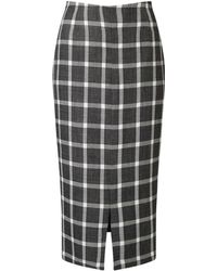 Eastex - Check Pencil Skirt - Lyst