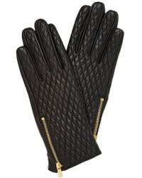 Oasis - Leather Quilted Glove - Lyst