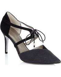 Jacques Vert - Snake Effect Court Shoes - Lyst