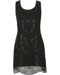 Tenki - Sequin & Beads Embellished Party Dress - Lyst
