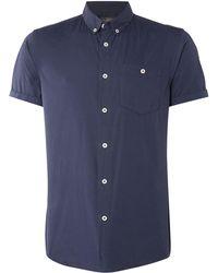 Jack & Jones - Plain Button-through Short-sleeve Shirt - Lyst