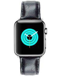 Mintapple - Ostrich Strap For Silver Apple Watch - Lyst
