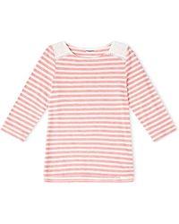 Dash | Broidery Yoke Stripe Top | Lyst
