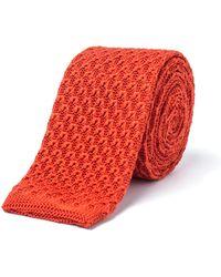 Gibson - Burnt Orange Knit Tie - Lyst