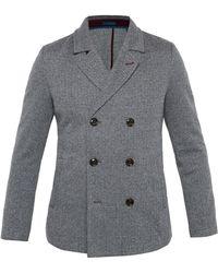 Ted Baker - Herringbone Design Jersey Coat - Lyst