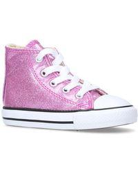 Converse - Ctas Coated Glitter Hi Trainers - Lyst