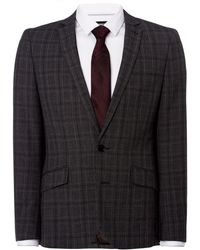 Kenneth Cole - Bruckner Checked Slim Fit Suit Jacket - Lyst
