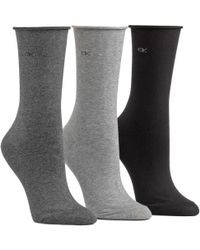 CALVIN KLEIN 205W39NYC - Roll Top 3 Pair Pack Ankle Socks - Lyst