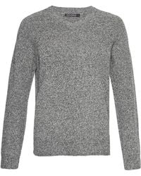 French Connection - Lambswool Elbow Patch Jumper - Lyst