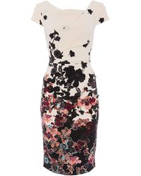 Adrianna Papell - Printed Floral Dress - Lyst