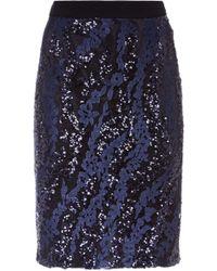 Fenn Wright Manson - Zara Skirt Navy - Lyst