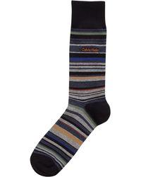Calvin Klein - Striped Cotton-blend Crew Socks - Lyst