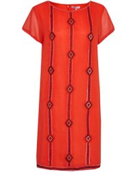 Great Plains - Karla Stitch Embroidered Dress - Lyst