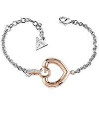 Guess | Gisèle Ubb83008-l G Heart Bracelet | Lyst