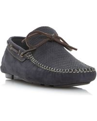 Bertie | Baraboo Woven Embossed Driver Shoe | Lyst