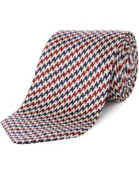 Chester Barrie - Two Colour Dog`s Tooth Tie - Lyst