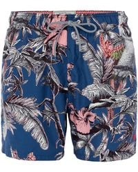 Ted Baker - Men's Elms Parrot Print Swim Shorts - Lyst