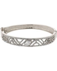 Mikey - S Dsign Filigree Cubic Cuff Bracelet - Lyst