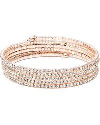 Anne Klein - Multi Row Stone Bracelet - Lyst