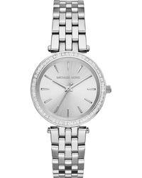 Michael Kors - Mini Darci Stainless Steel Glitz Bracelet Watch - Lyst