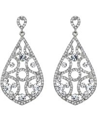 Mikey - Filigree Crystals Oval Design Earring - Lyst
