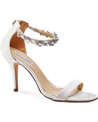 Benjamin Adams London - Marla Crystal Strap Sandals - Lyst
