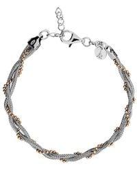 Azendi - Silver & Rose Vermeil Plaited Bracelet - Lyst