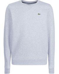Lacoste - Crew Neck Fleece Sweatshirt - Lyst