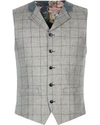Gibson - Grey Pick And Pick Check Vest - Lyst