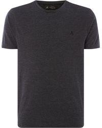 Label Lab - Men's Blade Crew Neck Stripe T-shirt - Lyst