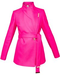 caff819c18723d Ted baker Caliee Double Breasted Coat in Pink