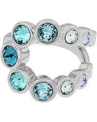 Aurora - Rhodium Plated Crystal Bubble Ring - Lyst