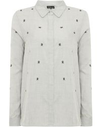 Label Lab - Bugs Embroidered Stripe Shirt - Lyst