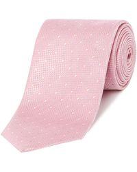 HUGO - Two Colour Spot Tie - Lyst