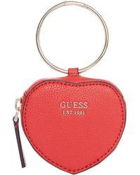 Guess - Digital Heart Keyring - Lyst