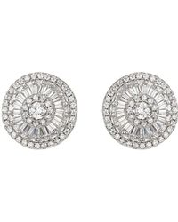 Mikey - London Sun Design Cubic Stud Earring - Lyst
