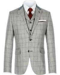 Gibson - Grey Pick And Pick Check Jacket - Lyst