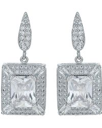 Mikey - Cubic Square Centre Drop Earring - Lyst