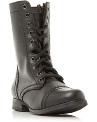 Steve Madden - Troopa Sm Lace Up Worker Calf Boots - Lyst