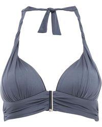 Biba - Icon Pewter Tipped Bikini Top - Lyst