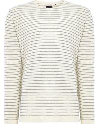Minimum - Men's Crew Neck Stripe T-shirt - Lyst