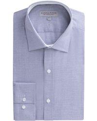 Alexandre Of England - Navy Jaspe Micro Check Shirt - Lyst